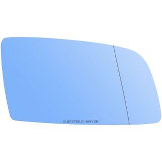 Spiegelglas Außenspiegel RECHTS asphärisch beheizbar für BMW 5er E60 E61 Blau