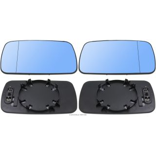 Mirror glass Exterior aspheric blue heated left & right 1 SET